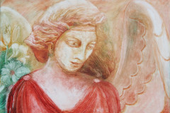 14 Engel in Rot 50x70